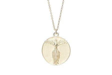 Talon Phoenix Medallion Necklace - Gold