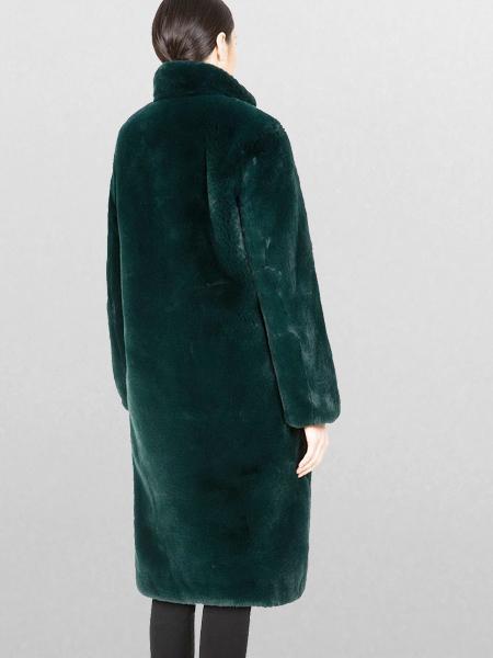 Apparis Laurie Faux Fur Coat - Forest Green
