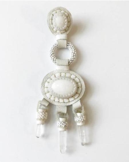 Robin Mollicone CHANDELIER EARRINGS - White