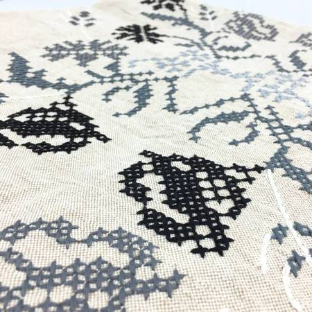 Khadi and Co Embroidered Coverlet Vine