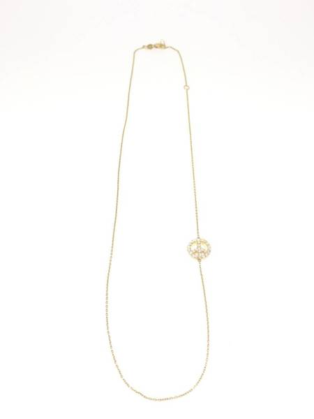 ST+ M Welcome Shoppe House Diamond Peace Necklace - 14K Gold