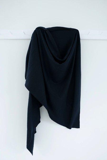 Karu Woven Wool  Blanket - Navy