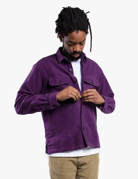 Tres Bien Overshirt Moleskin - Purple
