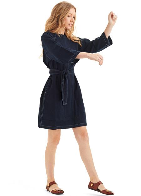 Kowtow Technique Dress - blue