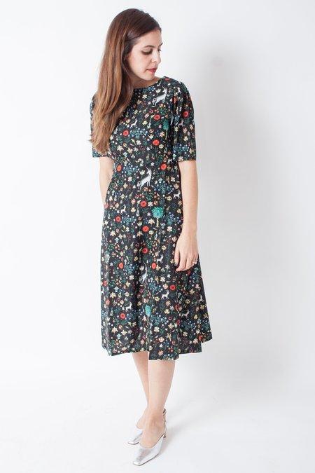 Samantha Pleet Noble Dress - Black Illuminated