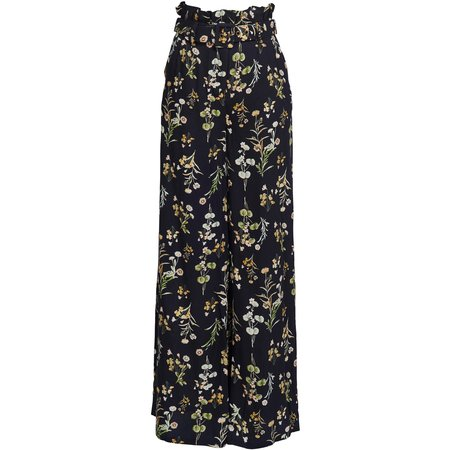 we are kindred Brigitte Palazzo Pant - Black Botanica