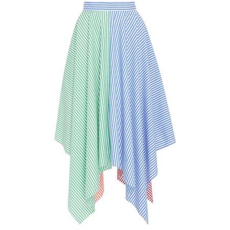 MDS Stripes Handkerchief Skirt - Mixed Stripe