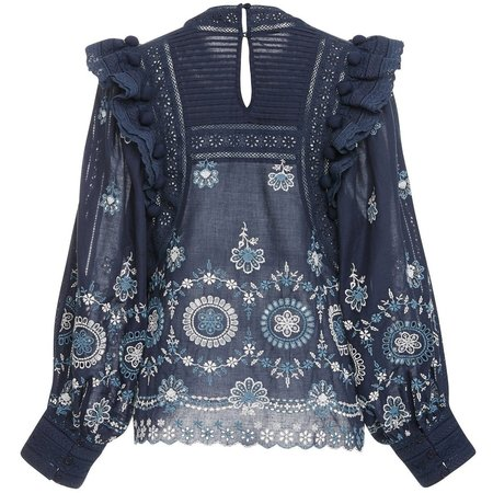 Sea New York Sofie Lace Blouse - BLUE