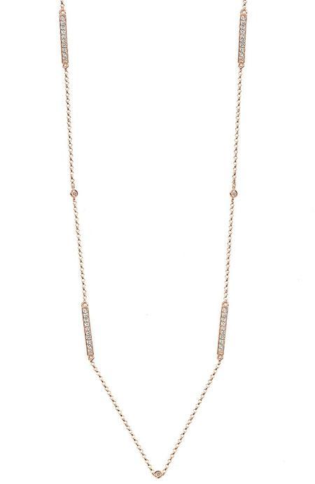 BETTINA JAVAHERI Barre Metro Two-Sided Diamond Necklace - rose gold
