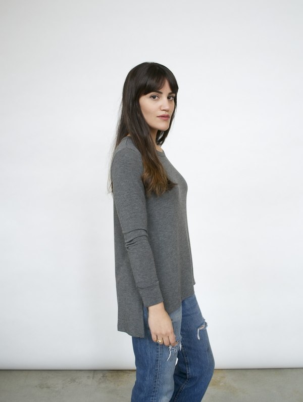 LNA Niia Ribbed L/S Shirt
