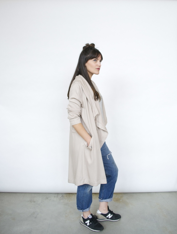 Lush Unstructured Trench Coat