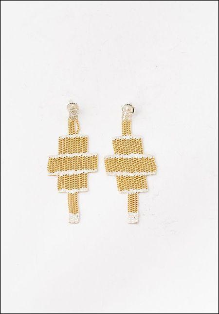 Hannah Keefe Brass Stacked Earrings