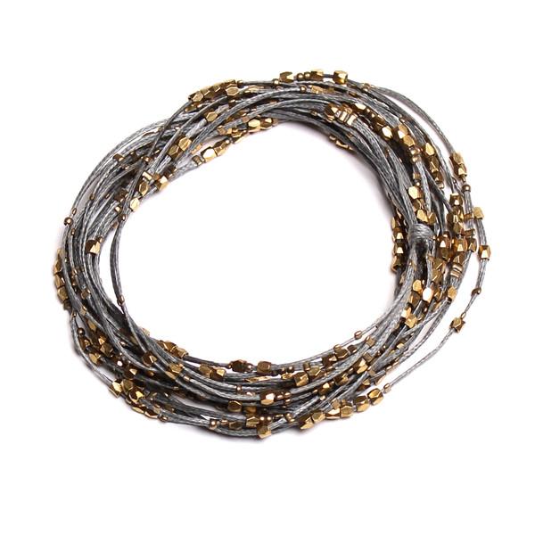 Serefina Glistening Four Strands Necklace Slate