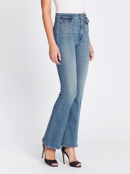 Mother Denim High Waisted Mini Pocket Cruiser Jean - Your Ass Is Grass