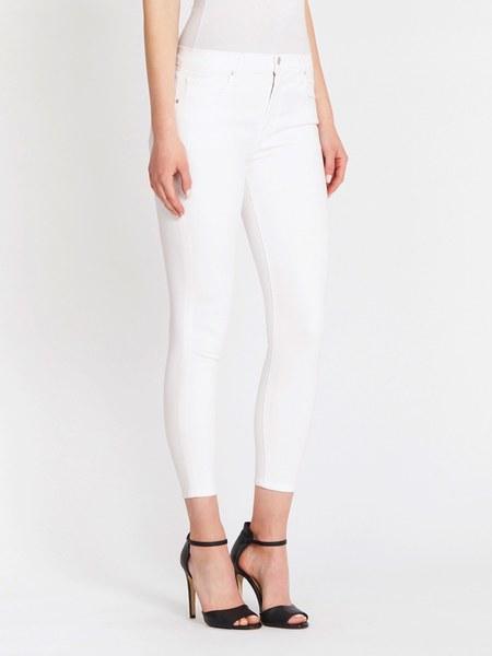 J Brand 835 Mid Rise Crop Skinny Jean - Blanc