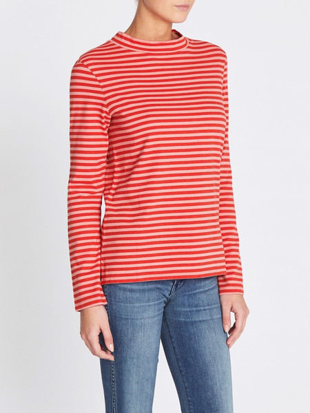 MiH Jeans Emelie Top  - Rosa Pink/Cherry Red