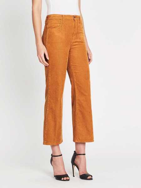 J Brand Joan High Rise Crop Cord Pant - Titian