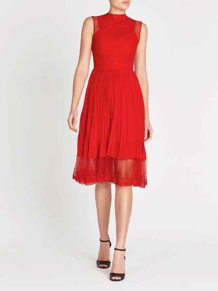 THREE FLOOR Cherry Ripe Dress - red