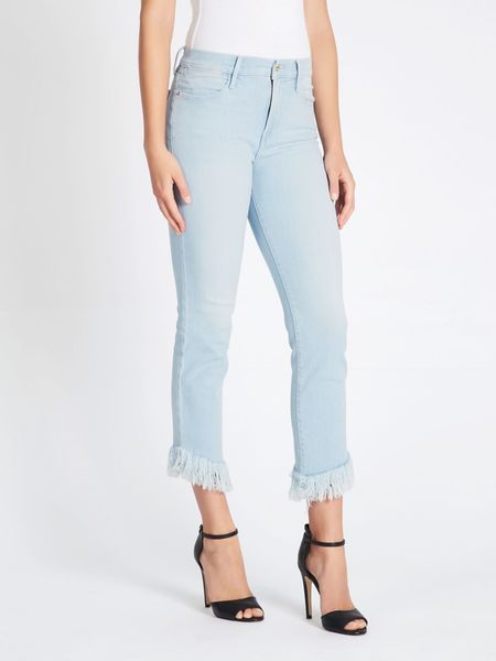 FRAME Denim Le High Shredded Raw Jeans - Sydmonton
