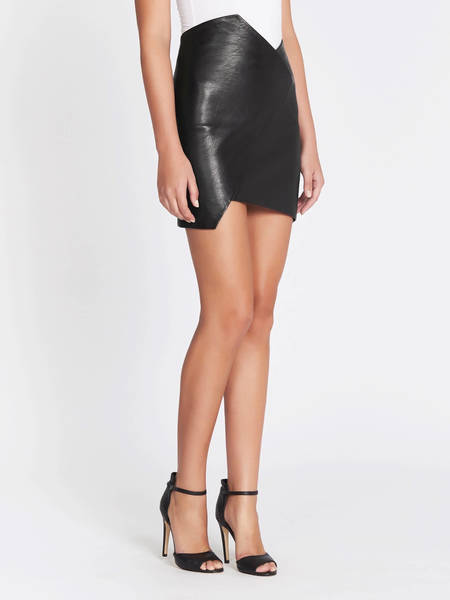 IRO Enamah Leather Skirt - Black