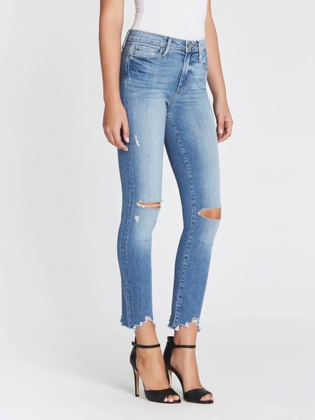 Paige Hoxton Ankle Peg Worn In Jean - Light Blue