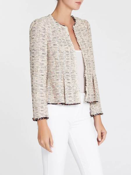 Rebecca Taylor Rainbow Tweed Jacket - Rainbow Infused Cream