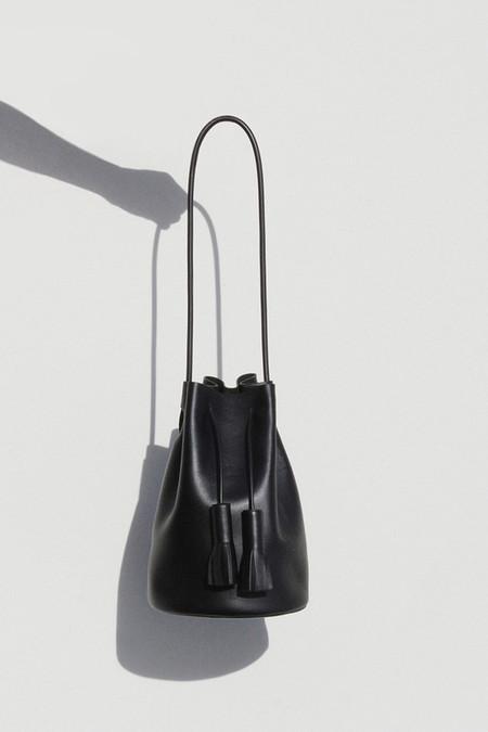 Building Block Black Bucket Bag