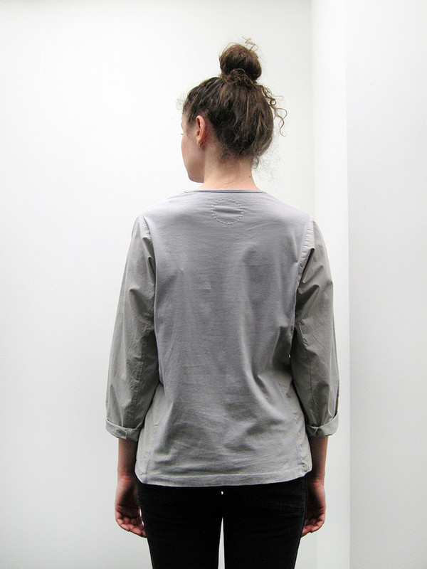 Cosmic Wonder Rolled-up Sleeve Pullover   Grey