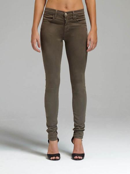J Brand 23110 Maria High Rise Skinny Jean - Army Green