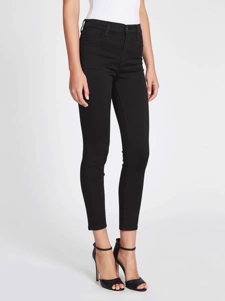 J Brand Alana High Rise Crop Skinny Jean - Black