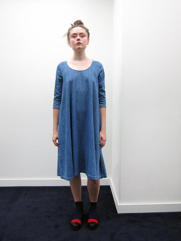 Kapital Shirt Denim Olive Dress