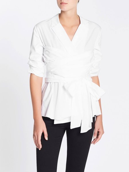 Camilla and Marc Clarissa Wrap Shirt - White