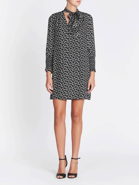 Rebecca Taylor Rue Scarf Tie Dress - Floral Print