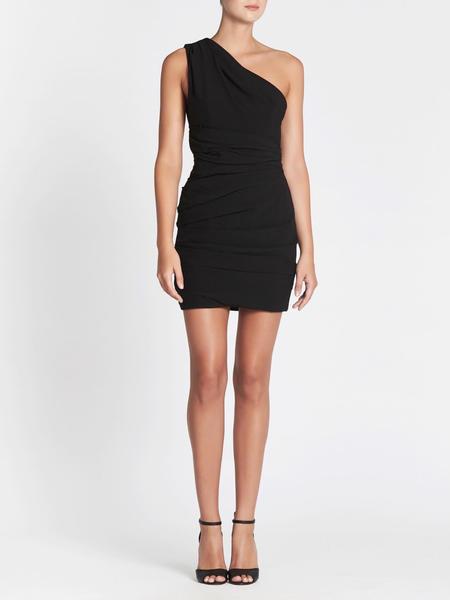 Camilla and Marc Percale Mini Dress - BLACK
