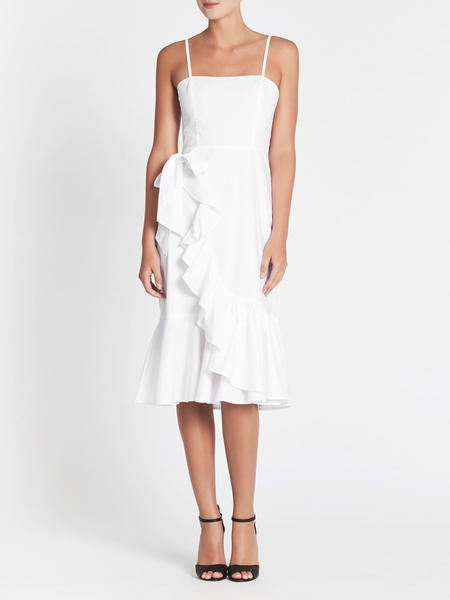 C & M Camilla And Marc Reses Frill Dress - WHITE