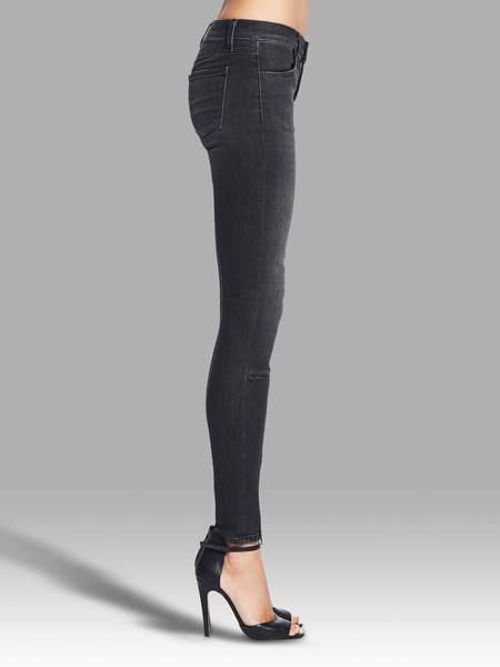 J Brand 733 Mid Rise Jeans - Black Heather