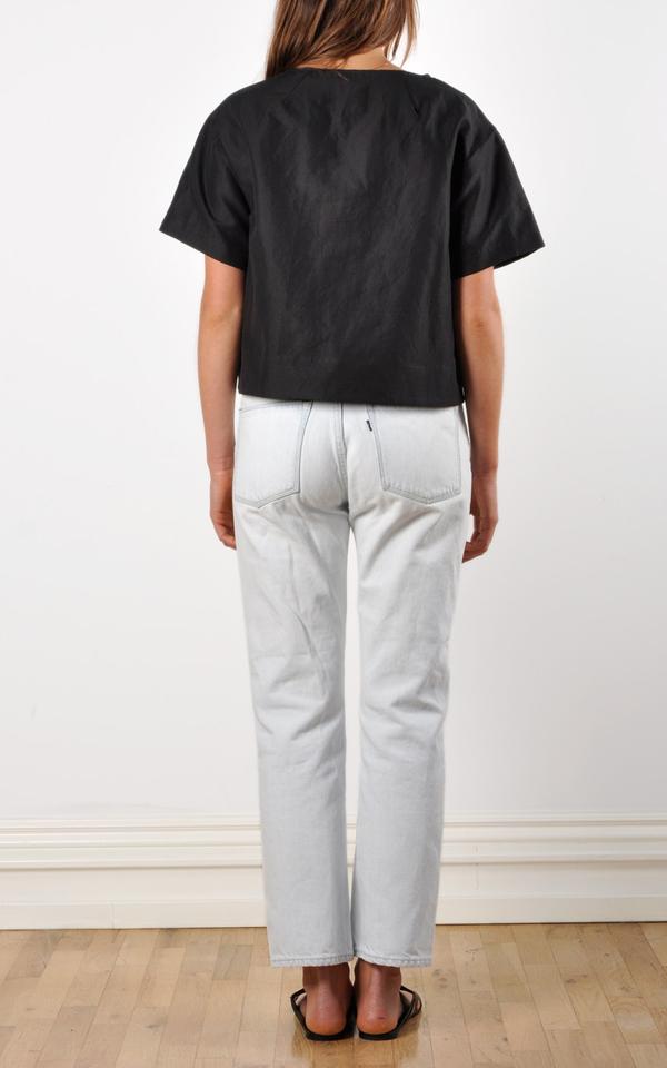 Waltz Drop Shoulder T-shirt | Cotton/Linen Twill