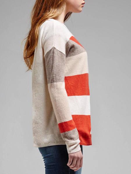 Joie Jenka Geo Knit - Orange Geometric Print