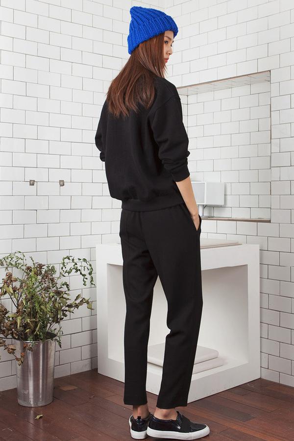 LOOKAST The Classic Slim Trousers | Black