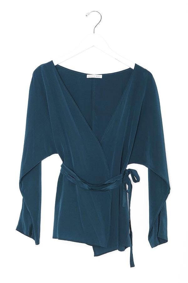 Kieley Kimmel Kimono Blouse | turquoise