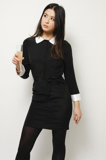 l'ecole des femmes SEVERINE DRESS - black