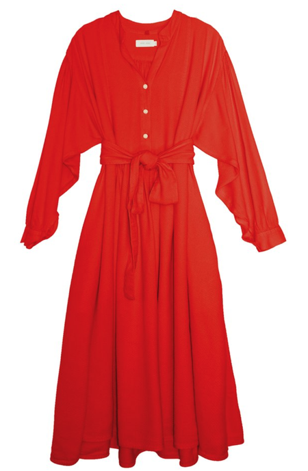 nico nico Lennox Prairie Dress - Cherry