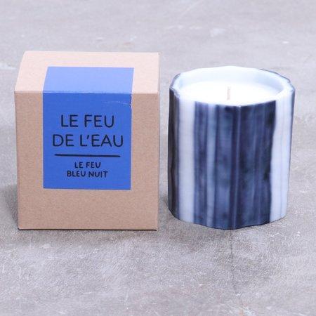 Le Feu De L'eau Blue Black + Red Currant Candle