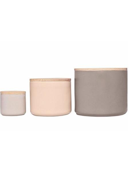 Dear Society Set of 3 Ceramic Totem Canisters