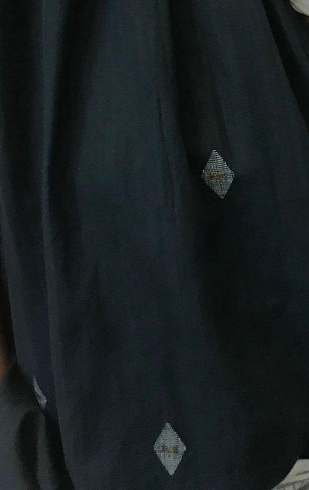 Two Khadi Metallic Shirt - Hunter Green