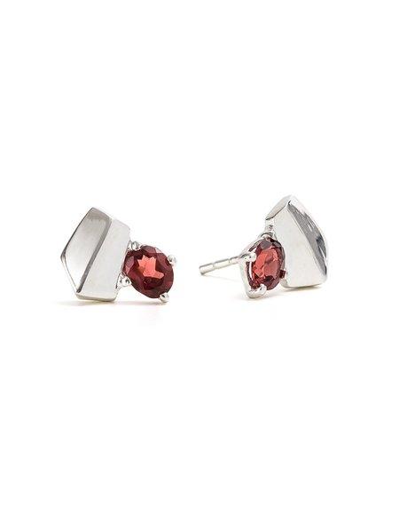 Cathy Pope Garnet Earrings