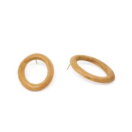 Sophie Monet Minimal Ring Earrings - PINE WOOD