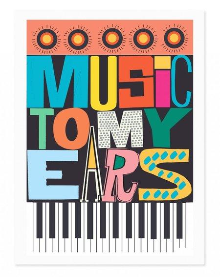 Rude Music Art Print