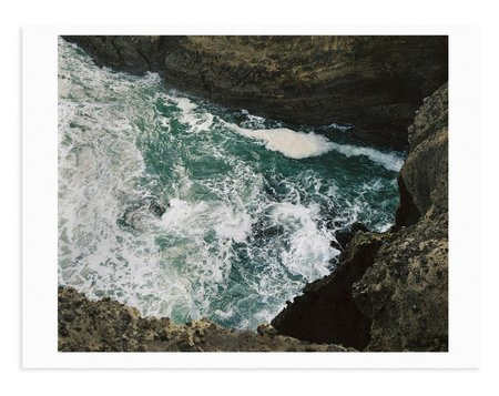Adam Custins Piha Coast Art Print