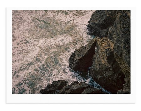 Adam Custins Piha Seas Cliffs Print